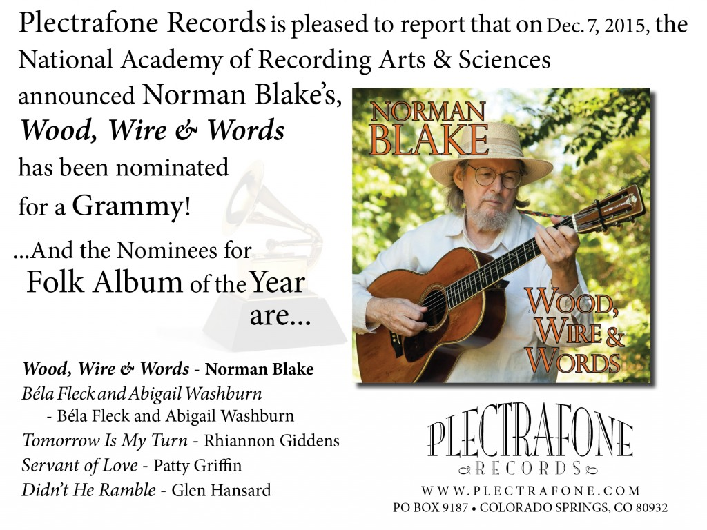 Norman Blake Grammy nominated